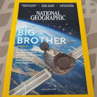 Feb 2018 National Geographic magazine