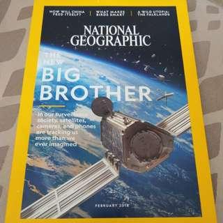 Feb 2018 National Geographic magazine