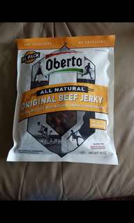 Oberto: all natural original beef jerky, extra large, 10-ounce bag