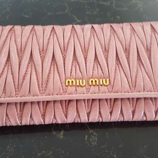 Miu Miu Long Wallet for sale