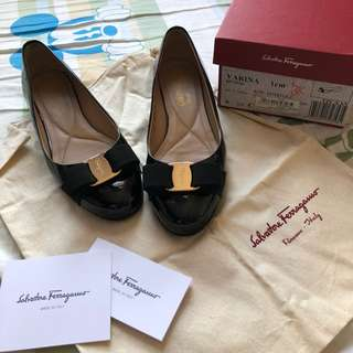 🈹❤️Salvatore ferragamo black flat