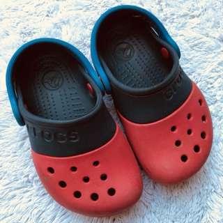 authentic crocs boy slip ons 1-2yo
