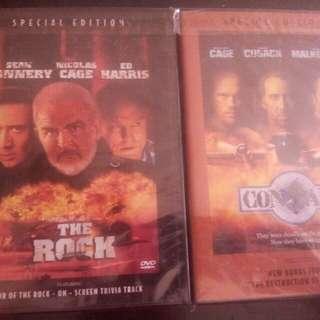 2 DVD ORIG CON AIR & THE ROCK COLLECTIBLES