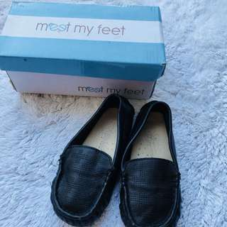 meet my feet formal comfortable black shoes 1yo up