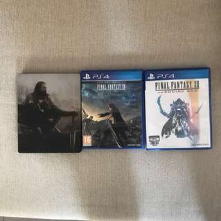 Final Fantasy XII Zodiac Age and Final Fantasy XV Day One Edition (with steel case)