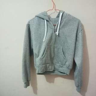 crop grey jacket