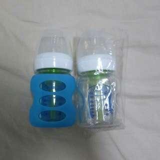BN Dr Brown wide neck glass milk bottle