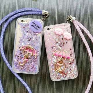 glitter phone casewith Ring