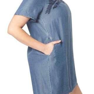Denim dress fits upto 2XL