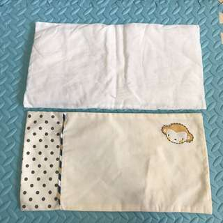 Almost New Baby pillow&pillow case