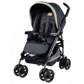 Display Model Peg Perego Pliko P3 Compact Classico Denim (No Delivery To Sabah & Sarawak due to bulky size)