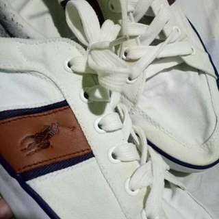 Polo low cut sneakers white