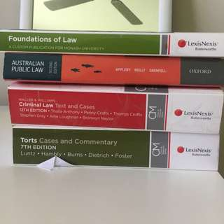 Monash first year law books bundle