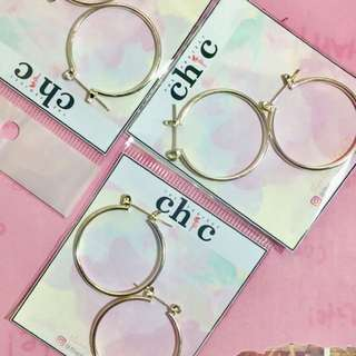 3 for 50 hoop earrings