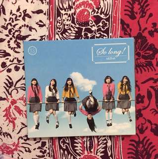 AKB48 single So Long! type B CD+DVD