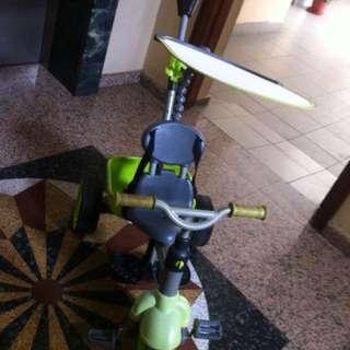 Green toddler bicycle