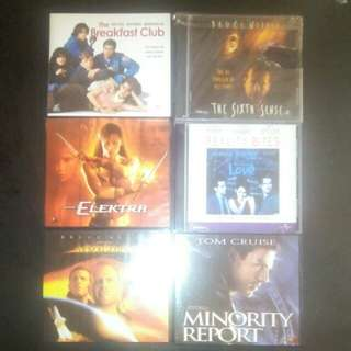 All 6 ASSORTED SET VCD ORIG COLLECTIBLES (ZOOM IN FOR TITLES)