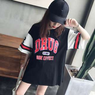 Ulzzang Korean Baseball Lose T shirt