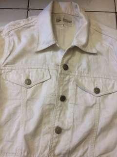 Jacket jeans white crop