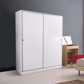 PRICEWORTH REDFERN BUILTIN MODULAR-1600MM SLIDING WARDROBE/STORAGE- WHITE