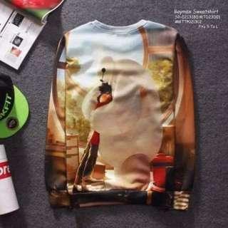 Baymax sweatshirt fits S-L