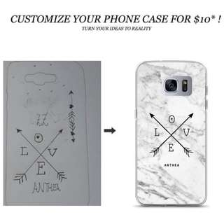 CUSTOMISE YOUR PHONE CASE
