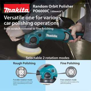 Makita Dual Action Car Polisher PO6000C