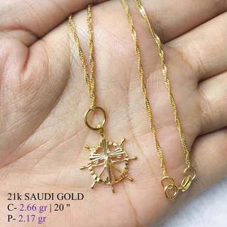 21K SAUDI GOLD NECKLACE