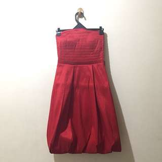 Red prom cocktail dress