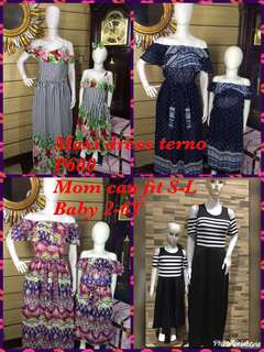 Mom and baby terno maxi dress