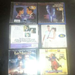 6 set Orig Pre-owned VCDs ( zoom in for titles)