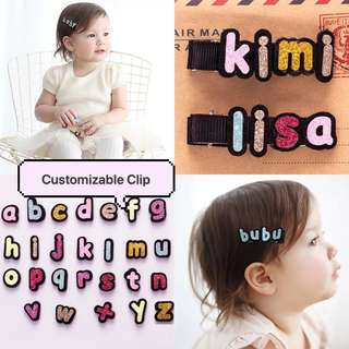 Customizable Alphabets Clip for Girls