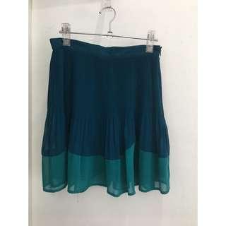 Topshop Color Blocked Miniskirt