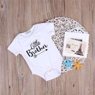 🐰Instock - little brother romper, baby infant toddler girl boy children glad cute 123456789