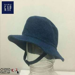 Baby GAP kid denim bucket hat topi budak