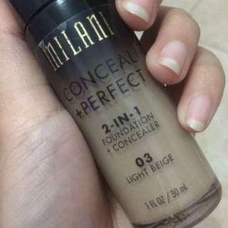 Foundation Milani shades 03 light beige