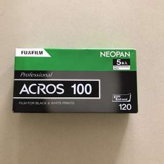 Fuji neopan acros100 120 format film (pack of 5)