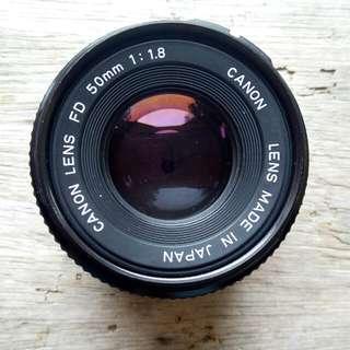 Lensa Canon FD 50mm 1:1.8