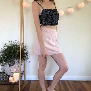 Glassons pink and camo crop