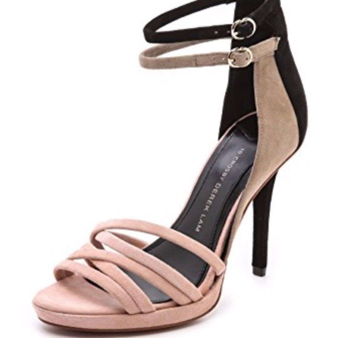 10 Crosby by Derek Lam Strappy Heels Shoes size 8.5 aritzia