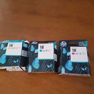 HP OfficeJet 18 Printer Ink (×3)