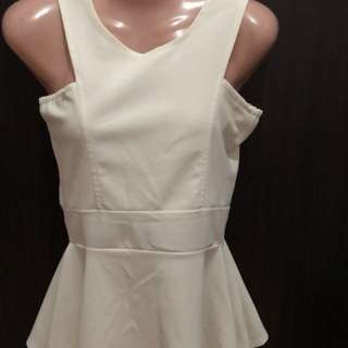 Off white Peplum Top