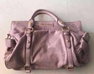 Miumiu粉紫色2用袋