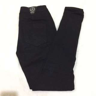 High waist punny jeans black