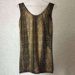 SUPER MINI PARTY DRESS // BLACK AND GOLD