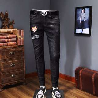 Black Ripped Jeans 28-39