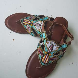 Indian design beads leatger 9sandal