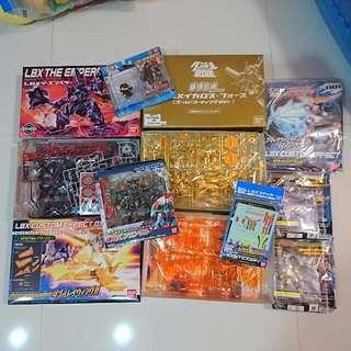 Robot 9 sets limited Gold Edition LBX robots gundam model kit