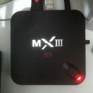 Android TV box Mxii 4k