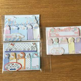 🇯🇵日本直送現貨sanrio post it memo貼little twin stars cinnamoroll hello kitty